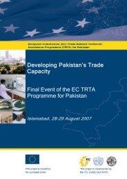 Developing Pakistan's Trade Capacity - TRTA i