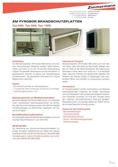 prospekt 2 5 mb zimmermann ag. Black Bedroom Furniture Sets. Home Design Ideas
