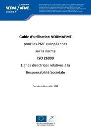 Guide d'utilisation NORMAPME pour les PME européennes sur la ...