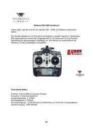 Walkera WK-2602 Handbuch