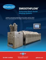 SmoothFlow Batch Tunnel Washers - GA Braun, Inc.
