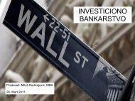 Investiciono bankarstvo - Razvoj karijere