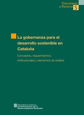 La gobernanza para el desarrollo sostenible en Cataluña