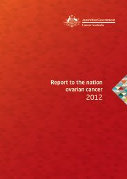 Report to the nation ovarian cancer - Cancer Australia