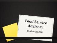 Food Service Advisory Committee 10-18-12 (PDF)