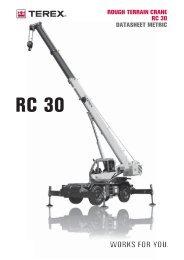 RC 30 ROUGH TERRAIN CRANE RC 30 DATASHEET METRIC
