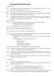 Les principaux temps forts du programme - Conseil général du ...