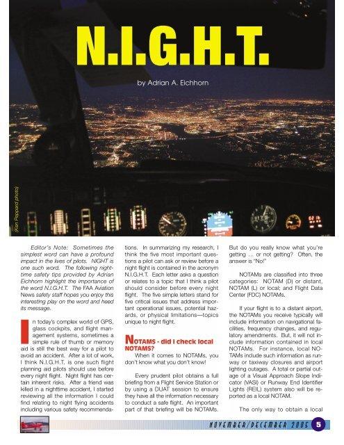 Night Flying Tips - FAASafety gov