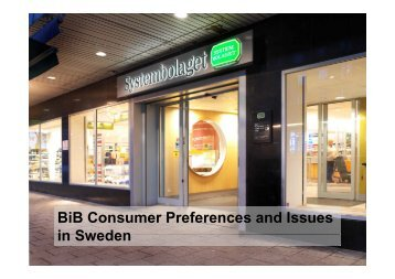 BiB Consumer Preferences and Issues in Sweden Sweden - B-i-b.com