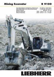 R 9100 Mining Excavator