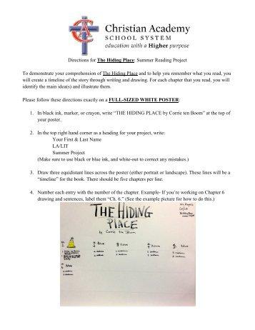Eighth Grade Summer Project