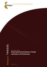 Modeling Retirement Behavior of Single Individuals in the Netherlands