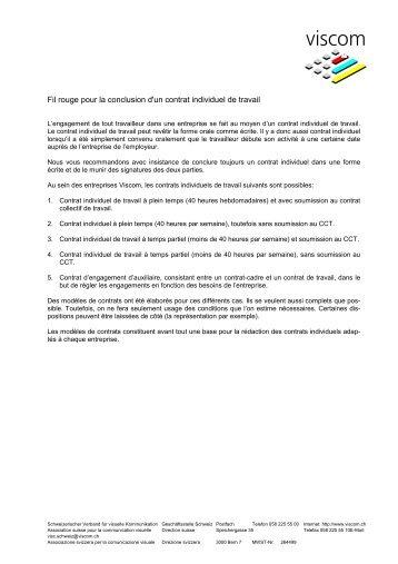 Contrat d'engagement en coup de main – Modèle 5   Viscom