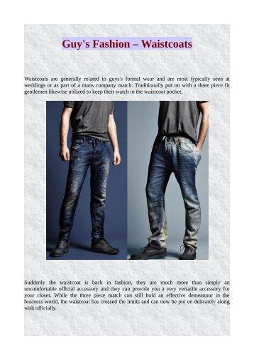 Guy's Fashion – Waistcoats
