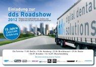 Einladung zur dds Roadshow 2012 - Digital Dental Solutions