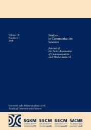 Studies in Communication Sciences - Thomas N. Friemel