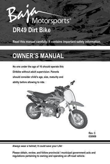 Service manual Baja ba49 on