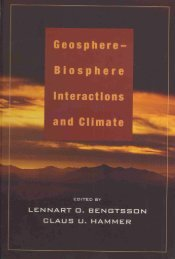 Geosphere~Biosphere Interactions and Climate - Pontifical ...