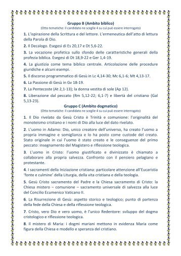 istituto filosofico-teologico viterbese - Istituto Teologico San Pietro