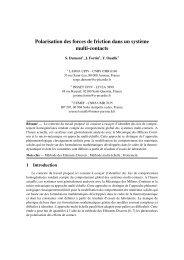 Polarisation des forces de friction dans un système ... - Giens 2009