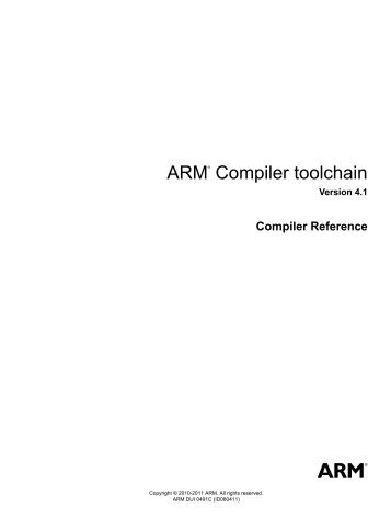 ARM Compiler toolchain Compiler Reference - ARM Information ...
