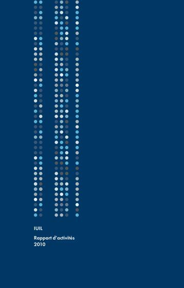 IUIL Rapport d'activités 2010