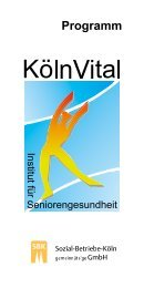 KölnVital Programm - Sozial-Betriebe-Köln