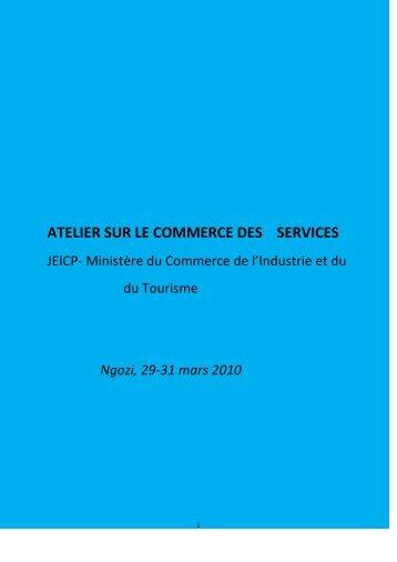 ATELIER SUR LE COMMERCE DES SERVICES - ILEAP