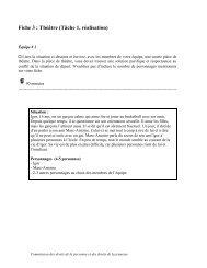 Fiche 3 : Théâtre (Tâche 1, réalisation) - CDPDJ