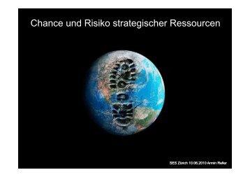 Chance und Risiko strategischer Ressourcen - Stadt-Energie-Verkehr