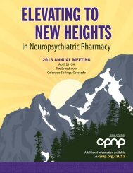 Download - College of Psychiatric and Neurologic Pharmacists