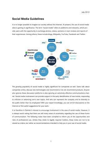 Social Media Guidelines - Daimler