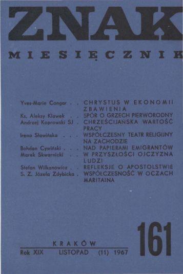 Nr 161, listopad 1967 - Znak