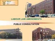 Labour Law Amendments - Department of Labour