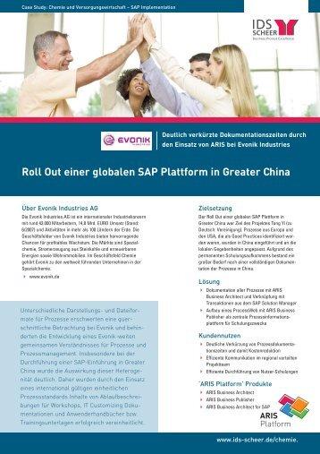 Roll Out einer globalen SAP Plattform in Greater China - Software AG