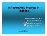 Infrastructure Projects in Thailand