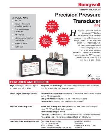 Precision Pressure Transducer - Sensors Tecnics, Honeywell