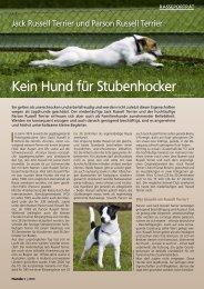 Kein Hund für Stubenhocker - Russell Terrier Club Schweiz