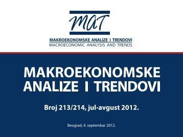 Prezentacija MAT-a, broj 213-214 - Ekonomski institut
