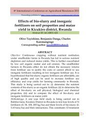 Effects of bio-slurry and inorganic fertilizers on soil ... - Elewa.org