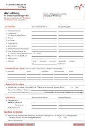 Anmeldung für Ergänzungsleistungen - Ausgleichskasse Luzern