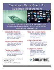 A central reporting platform to measure linear broadcast viewing ...
