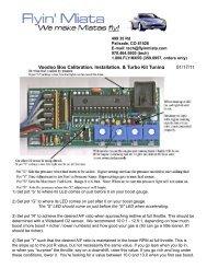 Voodoo Box Calibration, Installation, & Turbo Kit Tuning 01 ... - Flyin