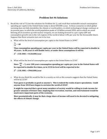 Problem Set #6 Solutions