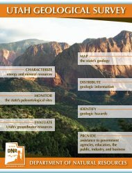 UGS brochure - Utah Geological Survey - Utah.gov