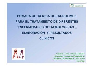 pomada oftalmica de tacrolimus al 0.02% para el tratamiento de la ...