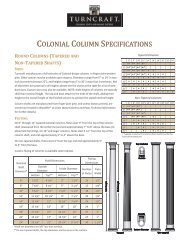 Wood Colonial Specifications:PDF - Turncraft