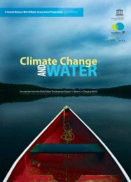 Climate change and water: an overview from the ... - unesdoc - Unesco