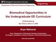 Biomedical Opportunities in the Undergraduate EE Curriculum