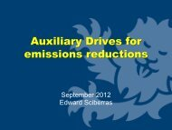 Auxiliary Drives for emissions reductions - Tefles